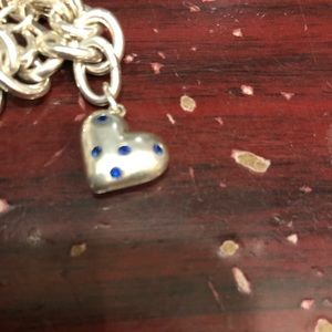 Jewelry - Tiffany and co Blue Sapphire Heart Charm Pendant
